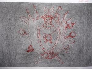 2. obicie siedziska nr 7, widok w podczerwieni z naniesieniem rysunku