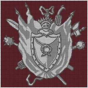 3. rysunek obicia siedziska nr 7 wykonany komputerowo w programie haftu krzyżykowego