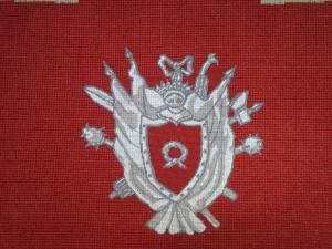 4. kopia obicia siedziska nr 7 wykonana w technice haftu krzyżykowego