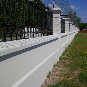 Zabytkowe ogrodzenie Filtrów w Warszawie - MPWiK - Remont